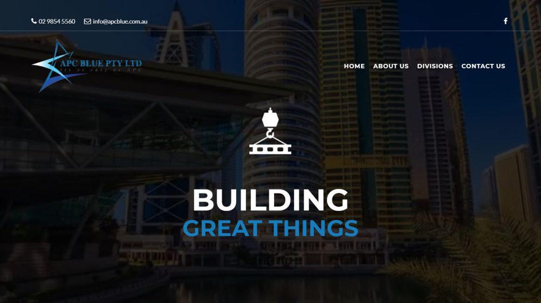 APC Blue Homepage